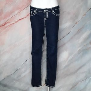 SEVEN7 Blue Low Rise Cropped Jeans 28